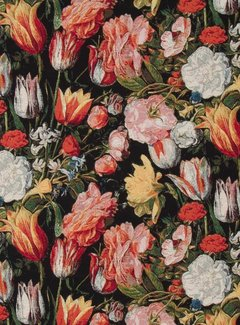 Bloemen en tulpen print gobelin
