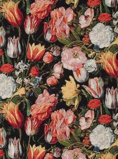 Decostoffen Bloemen en tulpen print gobelin