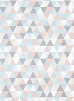 Decostoffen Pastel geometrisch ottoman