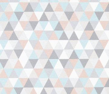 Pastel geometrisch ottoman