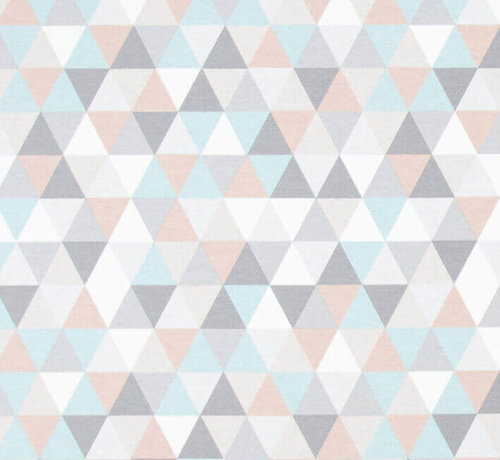Decostoffen Pastel geometrische ottoman print stof