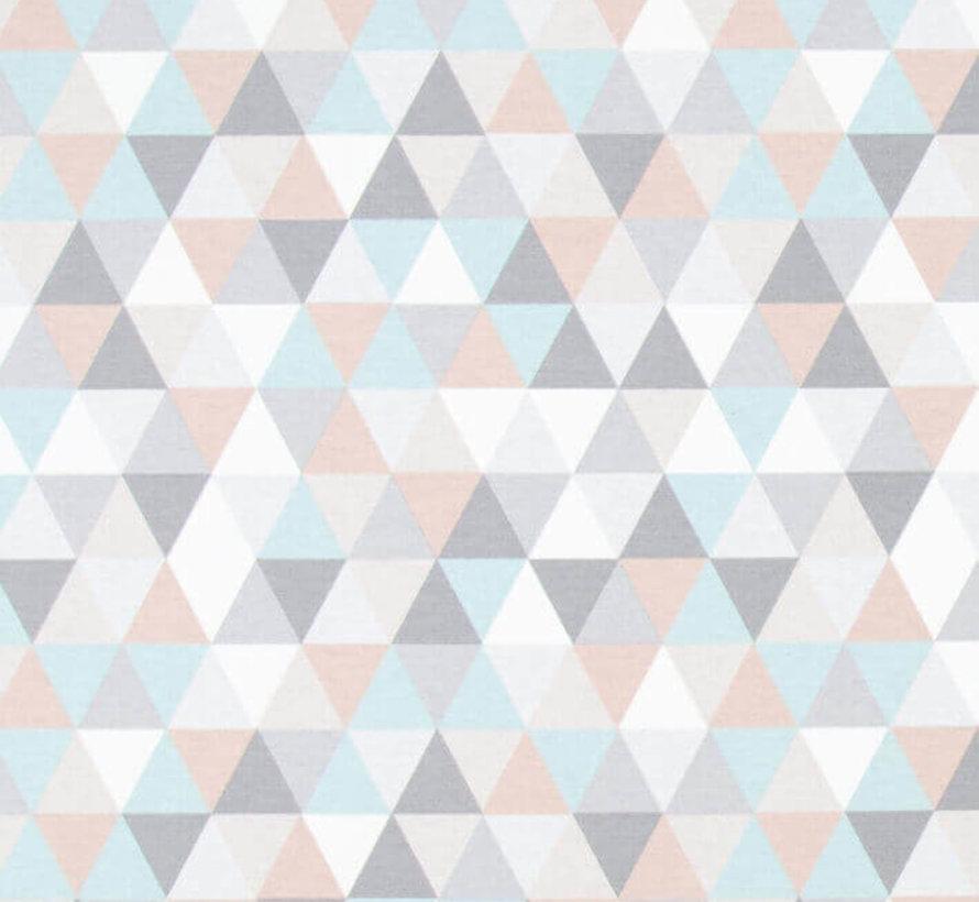 Pastel geometrische ottoman print stof