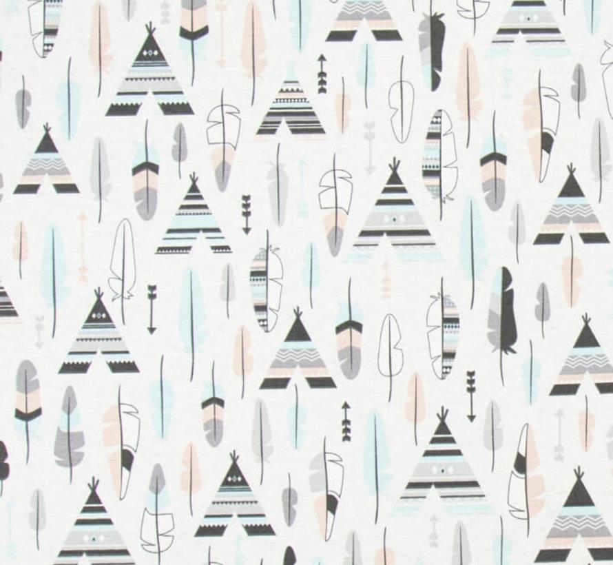 Wigwam pastel ottoman print stof