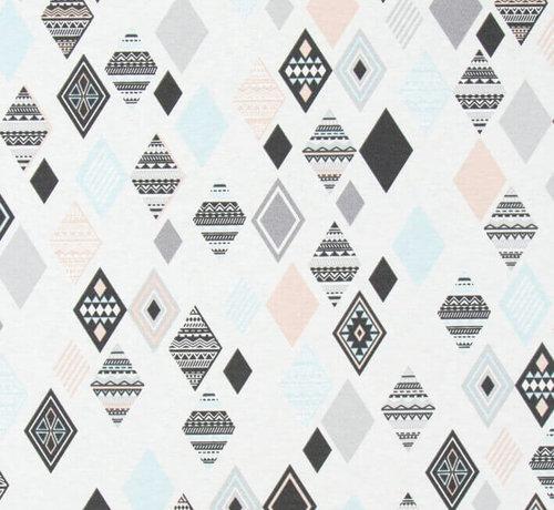 Decostoffen Pastel wieber ottoman print stof