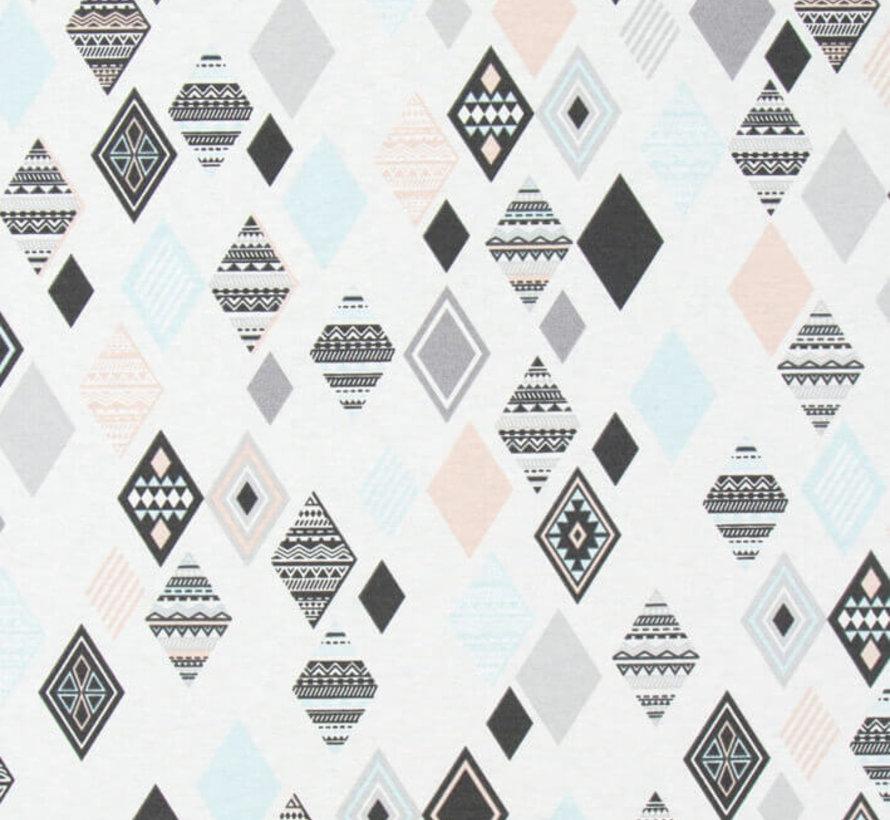 Pastel wieber ottoman print stof