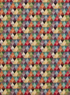 Multicolor driehoek klein gobelin