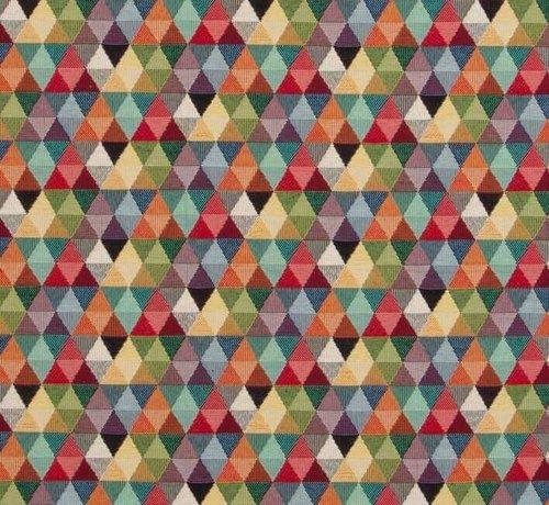 Decostoffen Multicolor driehoek gobelin meubelstof klein