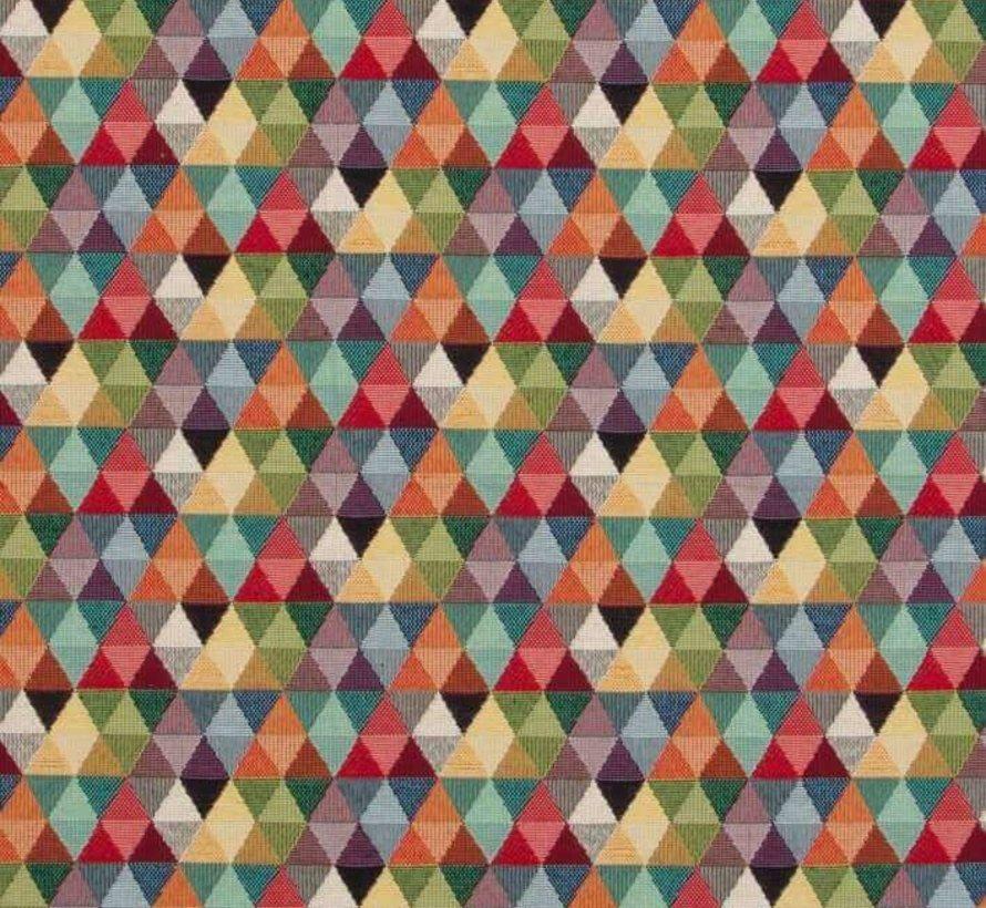 Multicolor driehoek gobelin meubelstof klein