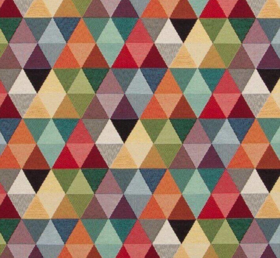 Multicolor driehoek gobelin meubelstof groot