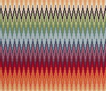 Decostoffen Multicolor zigzag gobelin
