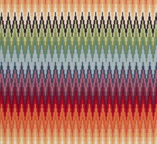 Decostoffen Multicolor zigzag gobelin meubelstof