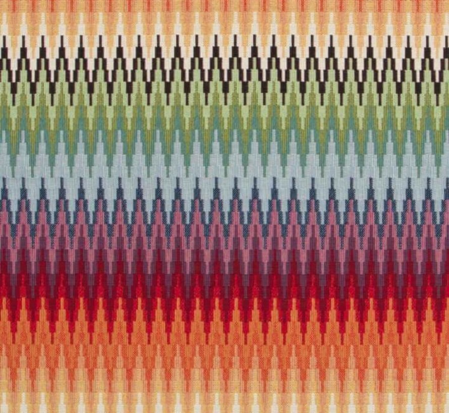 Multicolor zigzag gobelin meubelstof