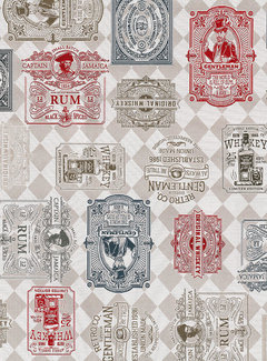 Whiskey labels jacquard