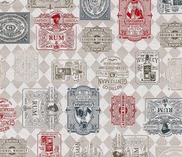 Whiskey labels jacquard