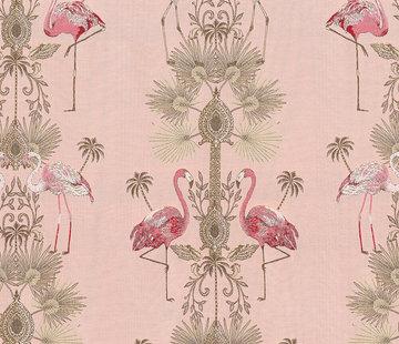 Decostoffen Flamingo jacquard