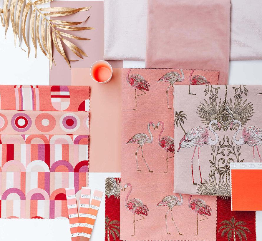 Flamingo jacquard meubelstof