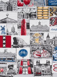 Decostoffen I love Amsterdam jacquard