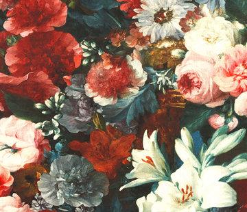 Decostoffen Bloemen & rozen velvet digitale print