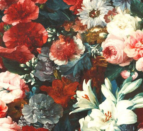 Decostoffen Bloemen & rozen velvet digitale print stof