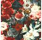 Bloemen & rozen velvet digitale print stof