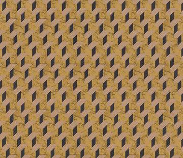 Decostoffen Geometrische print velvet digitale print