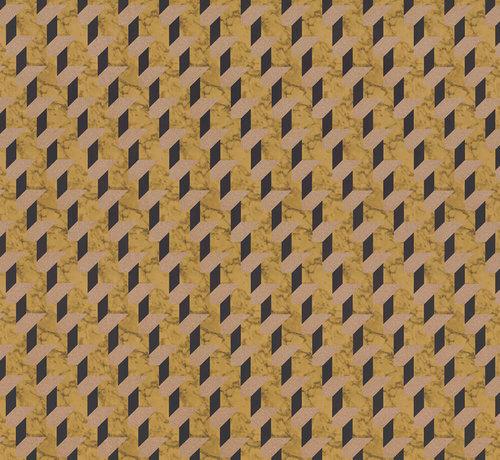 Decostoffen Geometrische print velvet digitale print stof