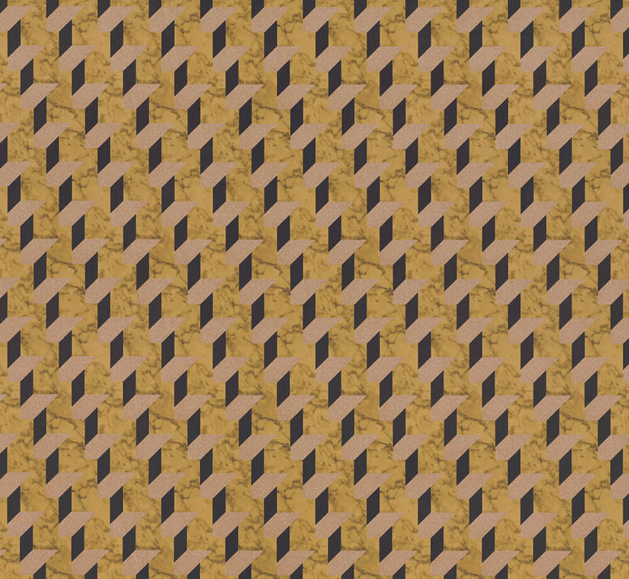 Geometrische print velvet digitale print stof
