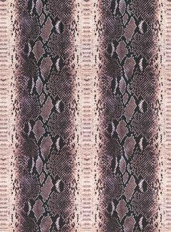 Slangenprint velvet digitale print