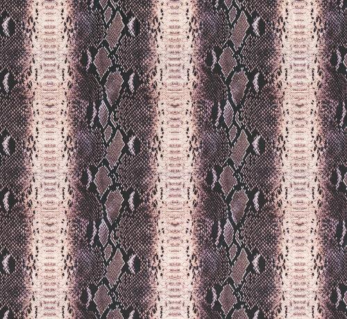 Slangenprint velvet digitale print stof