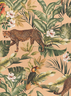Decostoffen Jungle leopard beach velvet digitale print