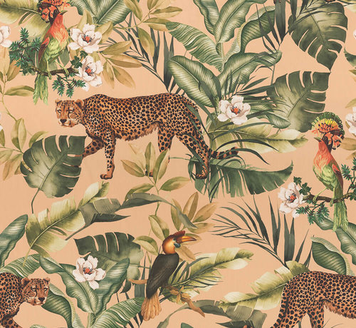 Decostoffen Jungle leopard beach velvet digitale print stof