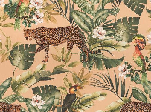 Decostoffen Jungle leopard beach velvet digitale print
