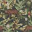Leopard jungle groen velvet digitale print