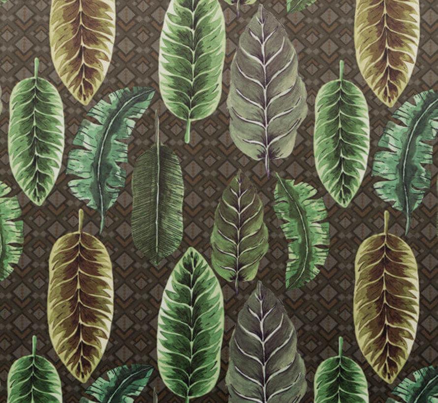 Bladeren velvet digitale print stof