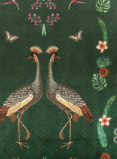 Decostoffen Kraanvogel velvet digitale print