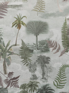 Tropische bomen velvet digitale print