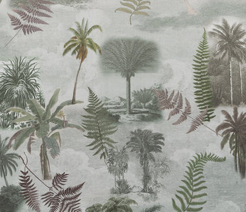 Decostoffen Tropische bomen velvet digitale print