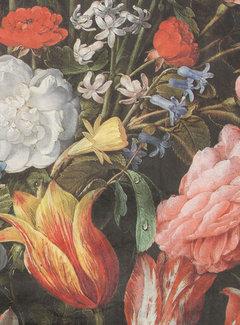 Decostoffen Bloemen & tulpen velvet digitale print