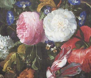 Decostoffen Bloemen roze wit velvet digitale print