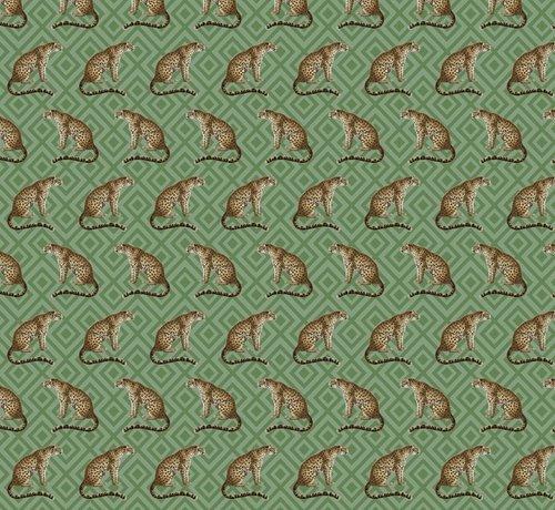 Decostoffen Luipaard jacquard meubelstof