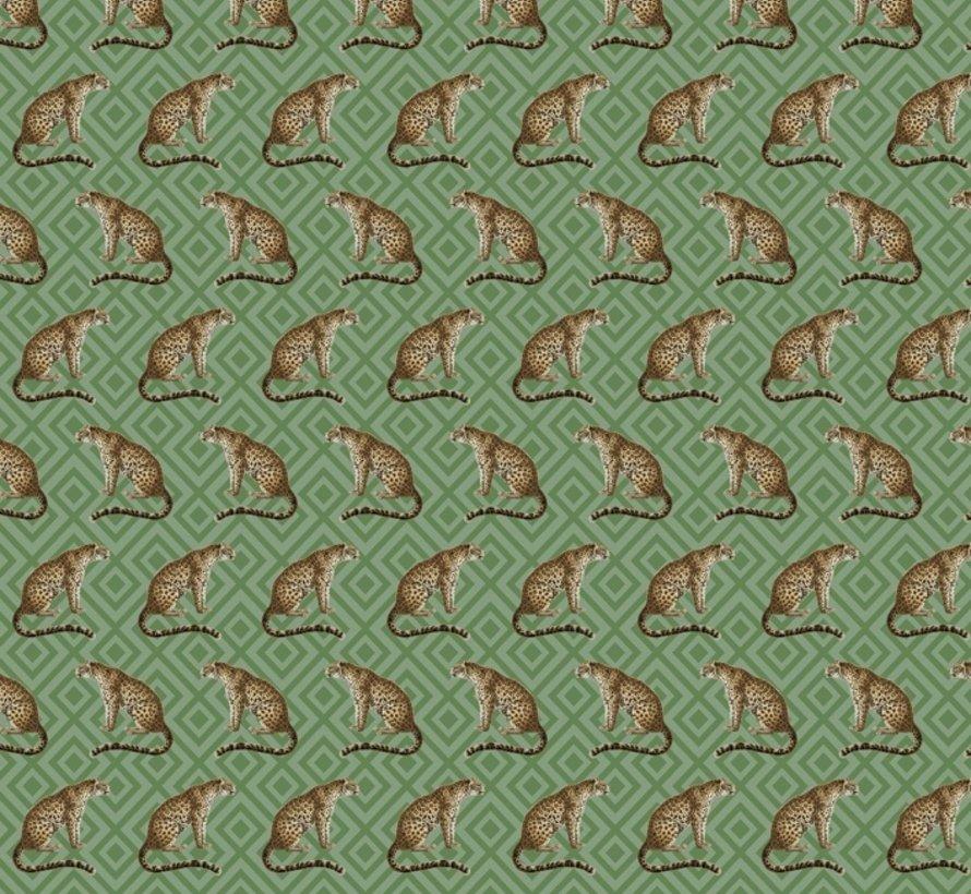 Luipaard jacquard meubelstof
