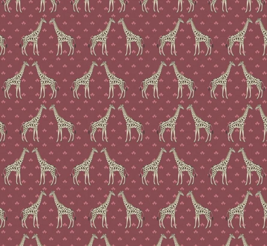 Giraffe print jacquard meubelstof