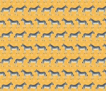 Decostoffen Zebra geel jacquard