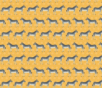 Zebra geel jacquard