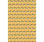 Zebra geel jacquard meubelstof