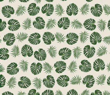 Decostoffen Palmbladeren jacquard