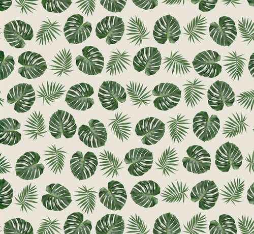 Decostoffen Palmbladeren jacquard meubelstof