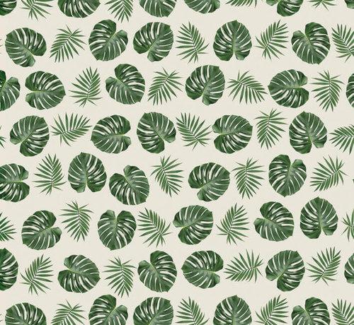 Palmbladeren jacquard meubelstof