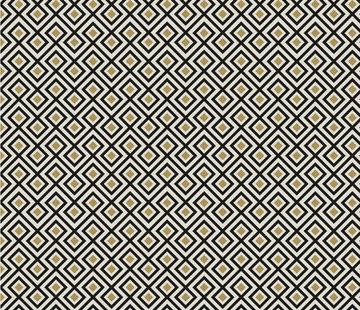 Geometrisch zwart goud wit jacquard