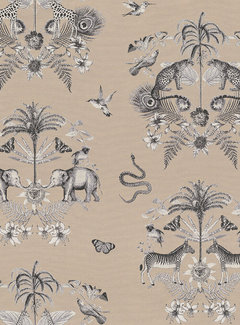 Beige jungle jacquard